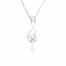 Citigems White Gold Diamond Pendant