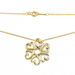 Pre-Loved Tiffany & Co.Paloma Picasso Medallion Multi Heart 18K Yellow Gold Necklace