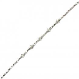 Citigems White Gold Diamond Bracelet