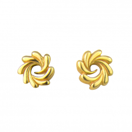 Citigems 916 Gold Sunflower Earrings