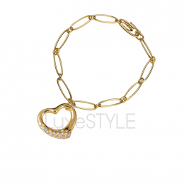 Pre-Loved Tiffany & Co. Peretti Open Heart 18K Yellow Gold Bracelet
