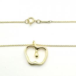Pre-Loved Tiffany & Co. Elsa Peretti Apple 18K Yellow Gold Necklace