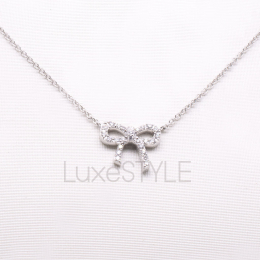 Pre-Loved Tiffany & Co. Bow Diamonds Necklace