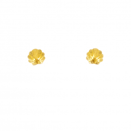 Citigems 999 Pure Gold Golden Sea Shell Earrings