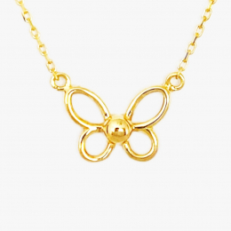 Citigems 916 Gold Butterfly Necklace
