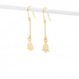 Citigems 916 Christmas Tree Dangling Earrings