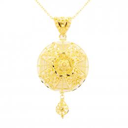 CItigems 916 Gold Calcutta Pendant