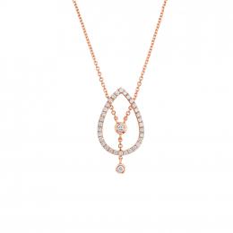 Citigems 14K Rose Gold Seoul Style Diamond Necklace