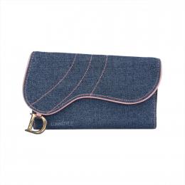 Pre-Loved Dior Denim Wallet