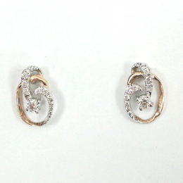 Citigems Perfect Love Rose Gold Diamond Earrings