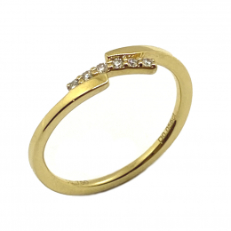 Citigems 18K Yellow Gold Seoul Style Ring