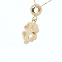 Citigems 916 Gold Four Leaf Clover Pendant