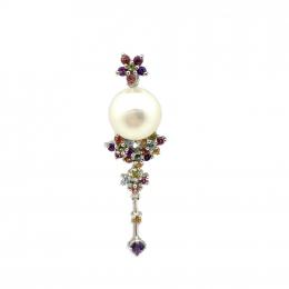 Citigems 18K White Gold Pearl Pendant