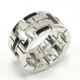 Pre-Loved Cartier Le Baiser Du Dragon 18K White Gold Enamel Ring