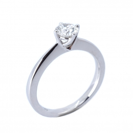 Citigems 18K White Gold 0.44CT Solitaire Ring
