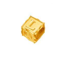 Citigems 916 Gold LOVE Cube Charm
