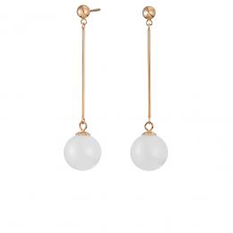 Citigems 18K Rose Gold Khione Nephrite Jade Earrings