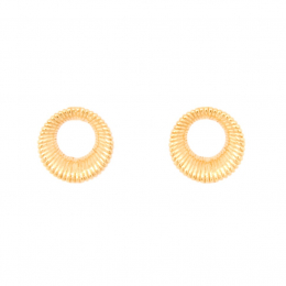 Citigems 916 Gold Circle Wire-Wrapped Earrings