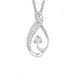 Citigems 10K White Gold Dewy Starlite Diamond Pendant