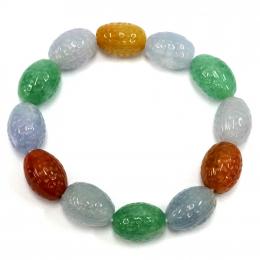 Citigems Olive Seed Jadeite A Bracelet