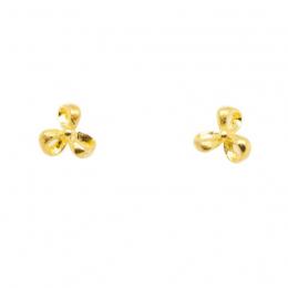 Citigems 999 Origami Flower Earrings
