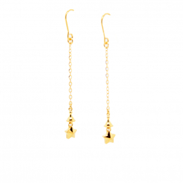 Citigems 916 Wishing Star Dangling Earrings
