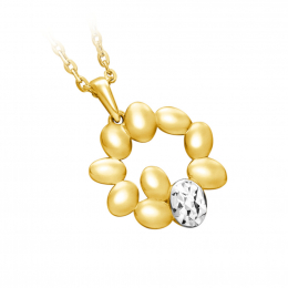 Citigems 916 Gold Golden Wheat Of Crown Pendant