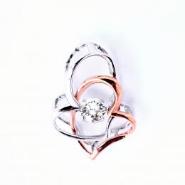 Citigems Rose Gold Tango Diamond Pendant