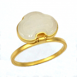 Citigems 18K Yellow Gold Nephrite Ring