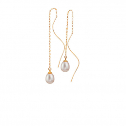 Citigems 18K Rose Gold Seoul Style Earrings