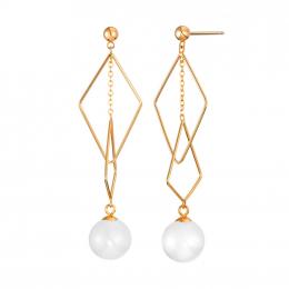 Citigems 18K Rose Gold Oreiade Nephrite Jade Earrings