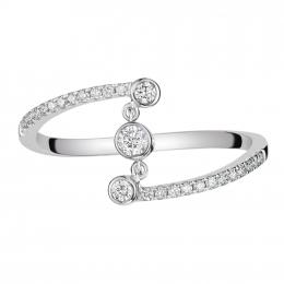 Citigems 14K White Gold Seoul Style Diamond Ring
