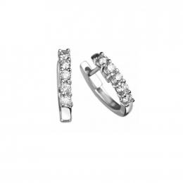 Citigems White Gold Classic Eternity Diamond Earrings