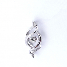 Citigems White Gold Tango Diamond Pendant