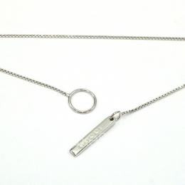 Pre-Loved Gucci Y Lariat 18K White Gold Chain Necklace