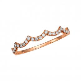 Citigems 18K Rose Gold Seoul Style Ring 94905