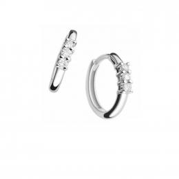 Citigems 18K White Gold Classic Trilogy Diamond Earrings