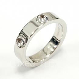 Pre-Loved Louis Vuitton Empreinte 18K White Gold Band Ring
