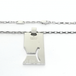 Pre-Loved Gucci Pisces Horoscope Silver Necklace