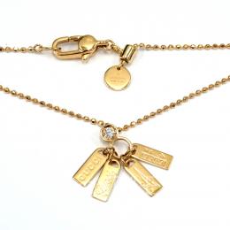 Pre-Loved Gucci 18K Rose Gold Diamond Necklace