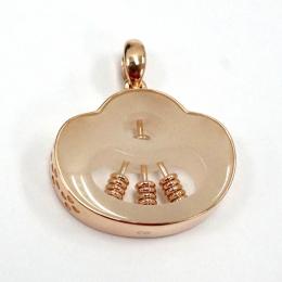 Citigems 18K Rose Gold Abacus Nephrite Pendant 92399