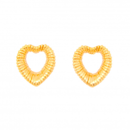 Citigems 916 Heart Wire-Wrapped Earrings