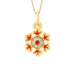 Citigems 999 Pure Gold Christmas Snowflakes Pendant