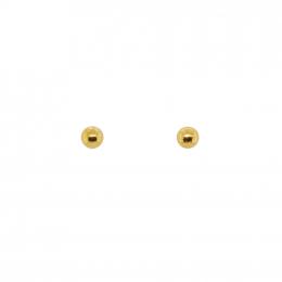 Citigems 999 Gold Half A Sphere Earrings