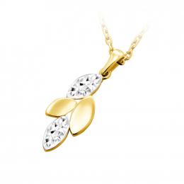 Citigems 916 Gold Golden Greek Leaf Pendant