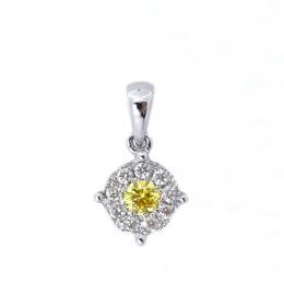 Citigems 18K White Gold Fancy Colored Diamond Pendant