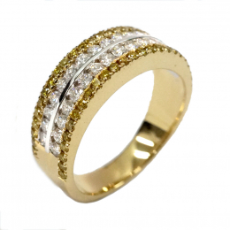 Citigems 18K Yellow Gold Classic Eternity Diamond Ring