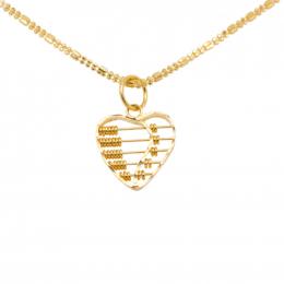 Citigems 916 Heart Abacus Pendant