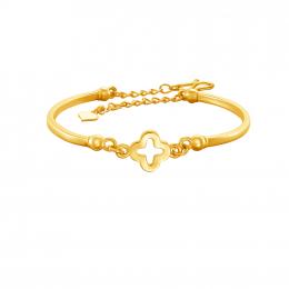 Citigems 999 Pure Gold Clover Bracelet