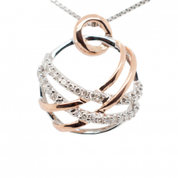 Citigems 10K Rose Gold Entwined Round Pendant
